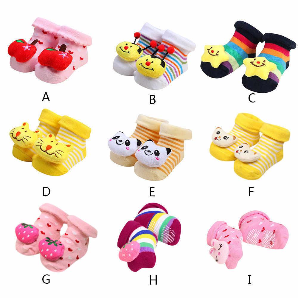 Одежда для малышей милые носочки милый мультфильм животных ботинки для новорожденных девочек и мальчиков противоскользящие кукла носки тапочки Bebe Calcetines