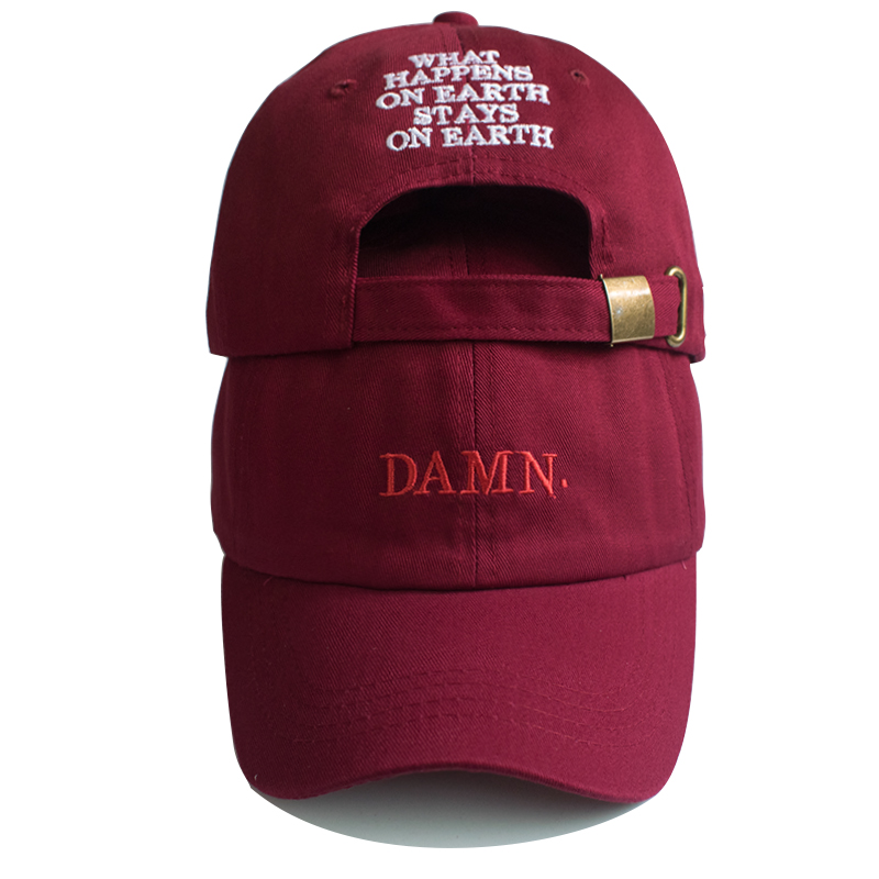 Unisex Spring summer DAMN Hats Embroidered Earth Dad Hat Hip Hop cap Kendrick lamar Rapper Snapback hats Baseball Cap wholesale(China)