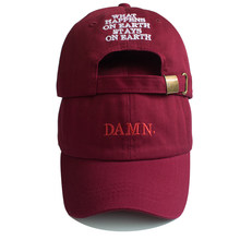 Unisex Spring summer DAMN Hats Embroidered Earth Dad Hat Hip Hop cap  Kendrick lamar Rapper Snapback 2e2982aabdd