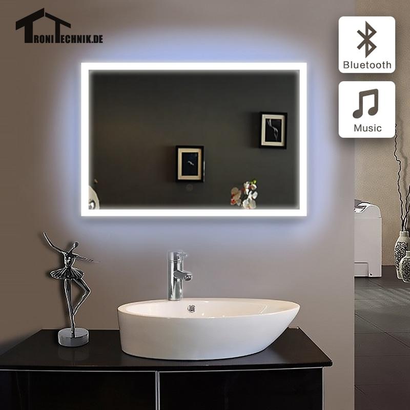 50x70 Cm De Bain Miroir Dans Salle De Bains Bluetooth Lumineux Led Piegel Badkamer En Verre Miroir Salle De Bains Miroir Mur Ip44 E102b 90 240 V Aliexpress