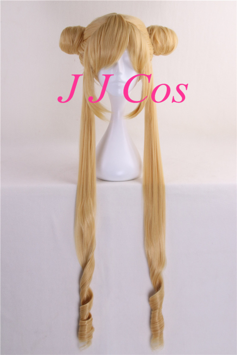 Sailor Moon Cosplay Costume Accessory with Double Ponytails Blond/Yellow Women Girls' Party Hair