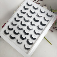 16styles/set 100% Real Siberian 3D Mink Full Strip False Eyelash Long Individual Eyelashes Mink Lashes Extension free shipping