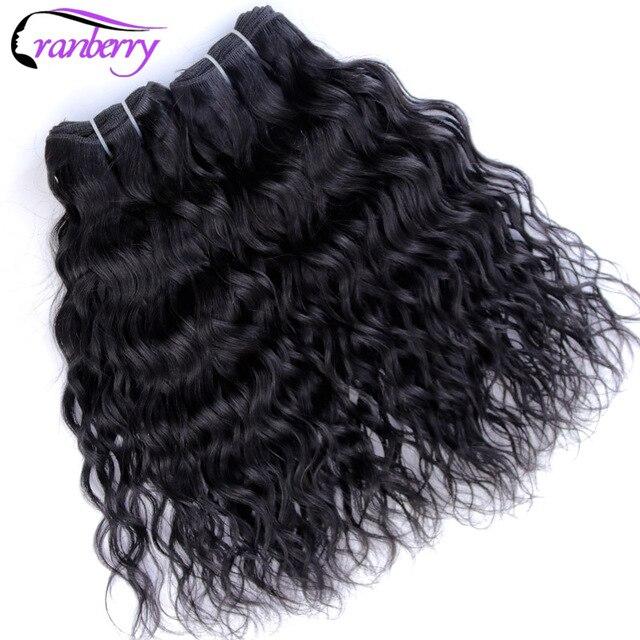 Cranberry Hair Brazilian Water Wave Hair 4 Bundles 100gpc 100 Soft