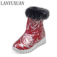 2016 Snow Boots Botas Mujer Fashion Ankle Boots Vintage Brand Low Heels Spring Shoes Autumn Winter