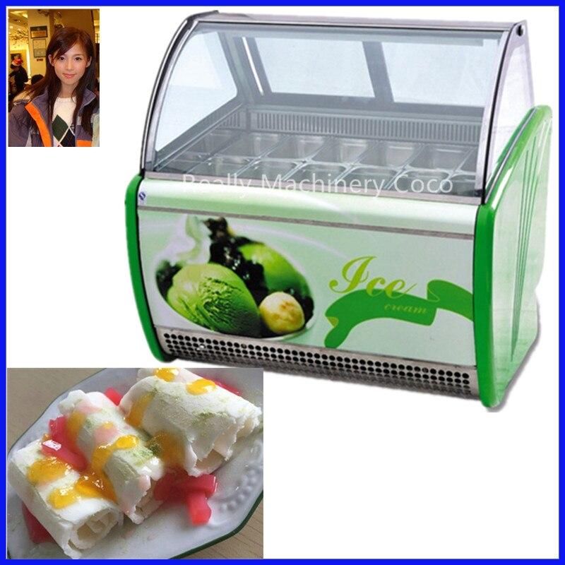 Vitrina para refrigerador de helado