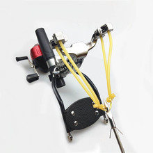 Slingshot Shooting Fishing Catapult Arrow Bow Sling Shot Strong slingshot fishing Compound bow Catch Fish High Velocity Hunting outdoor fishing sports fish hunting diy slingshot catapult wristband hand guard rubber band reel sling shot bow set