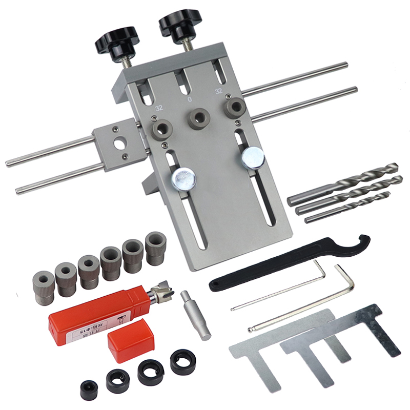 Profession Woodworking Puncher Locator Wood Doweling Jig Adjustable Drilling Guide For DIY Furniture Connecting Position Tools