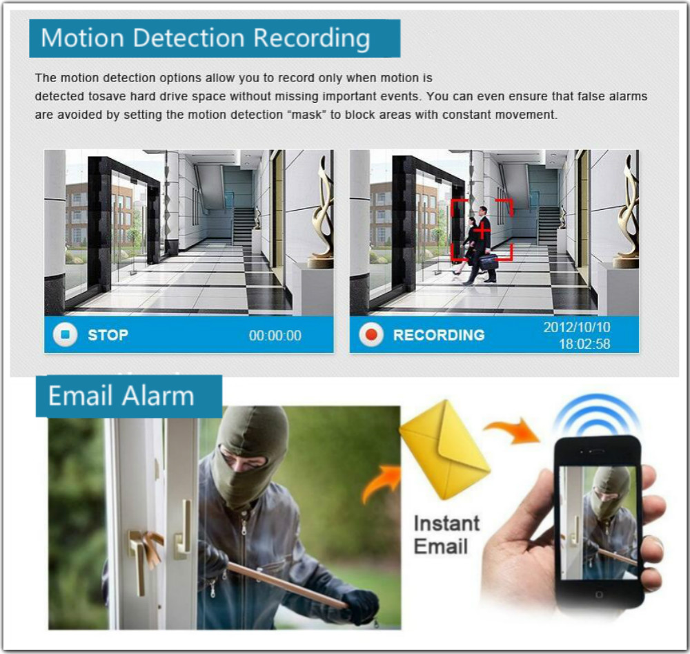 motion detection alarm function