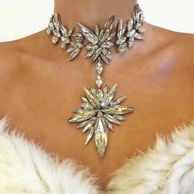 Vedawas Bohemian Fashion Jewelry Sets Multicolor Crystal Choker Statement Necklace&Pendant Collar Earrings Various Styles XG2267