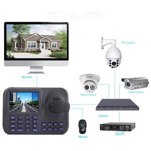 Image 5 - מinesun ONVIF רשת מקלדת בקר 5 inch 3D ג ויסטיק HD LCD תצוגת IP PTZ מקלדת בקר עבור מהירות גבוהה כיפה מצלמה