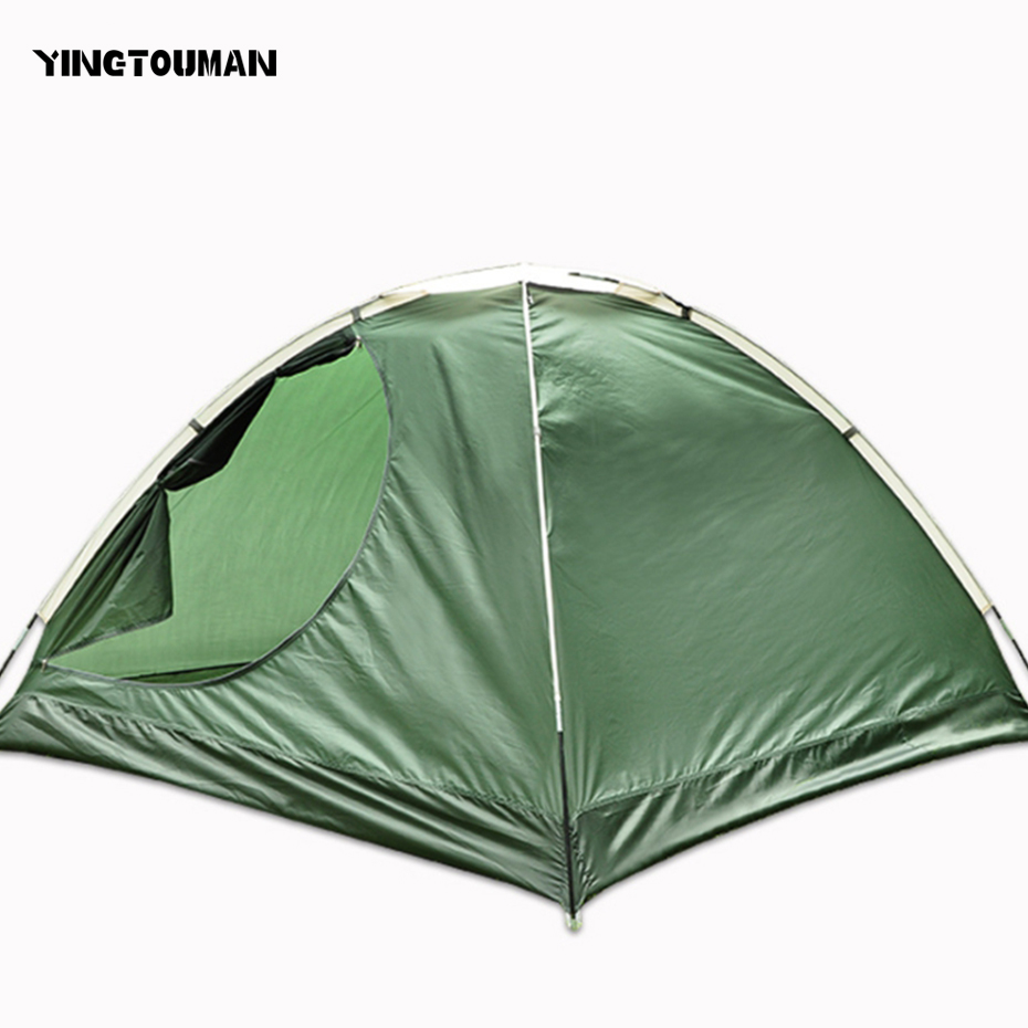 YINGTOUMAN Outdoor 2-3 Person Tent Portable Camping Hiking Lovers Beach Shelter Tent Sun Protection Camping Accessories high quality outdoor 2 person camping tent double layer aluminum rod ultralight tent with snow skirt oneroad windsnow 2 plus