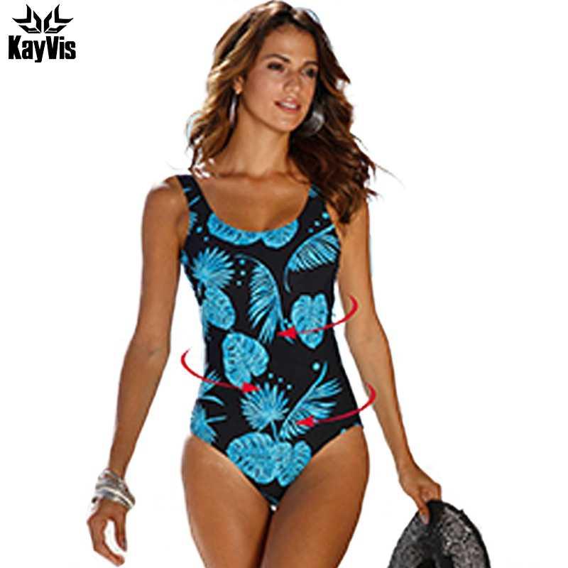 da94fa74c70 KayVis 2019 New Sexy One Piece Swimsuits Female Bodysuit Brazilian Monokini  Backless Swimwear Women Print One