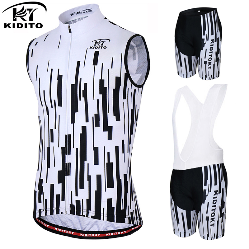 KIDITOKT maillot cycling Sleeveless Cool Cycling Jersey Summer Bicycle Clothing Ropa Maillot Ciclismo MTB Bike Vests Clothes Set