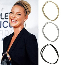 3Pcs/lot  Fashion Women Glitter Elastic Headband High Quality Bling Hairband Girls Double Hair Hoop Accessories