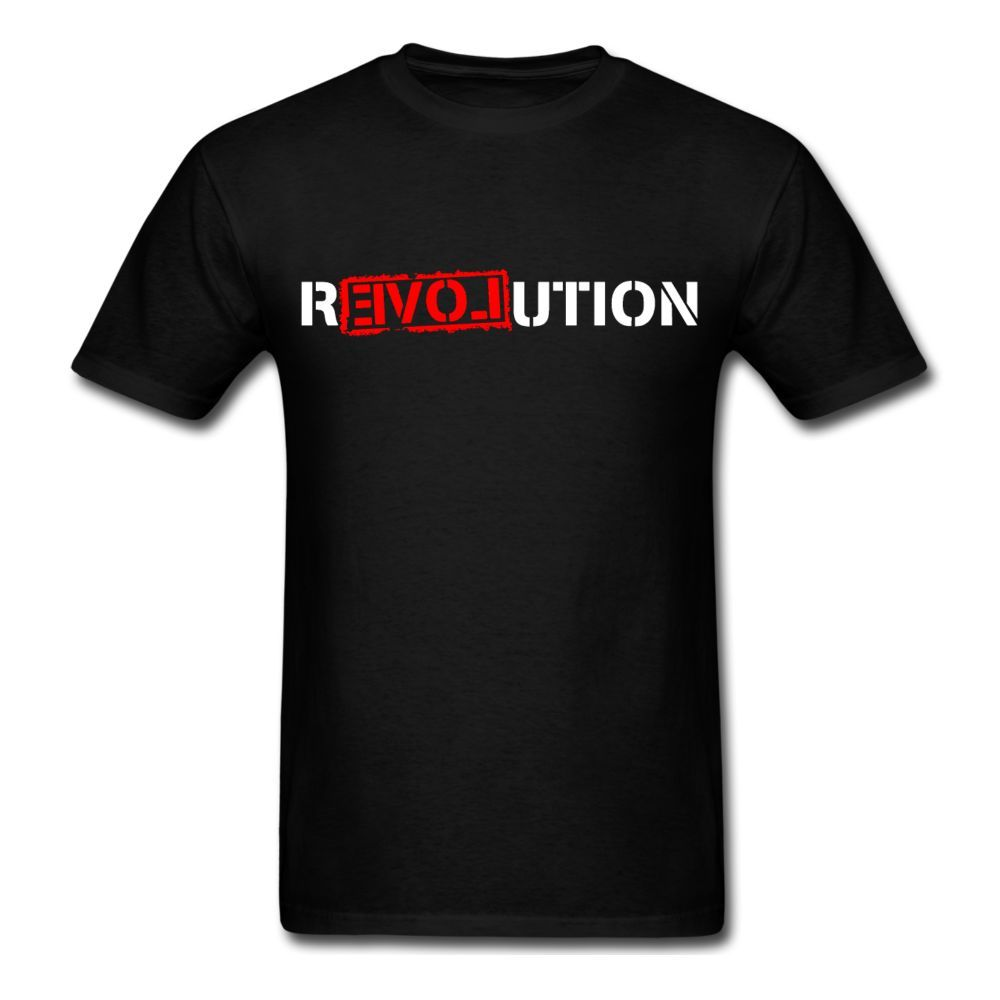 Revolution Love New Beginning <font><b>Protest</b></font> Anarchy Anon Anonymous Tee Shirts Hipster O Neck image
