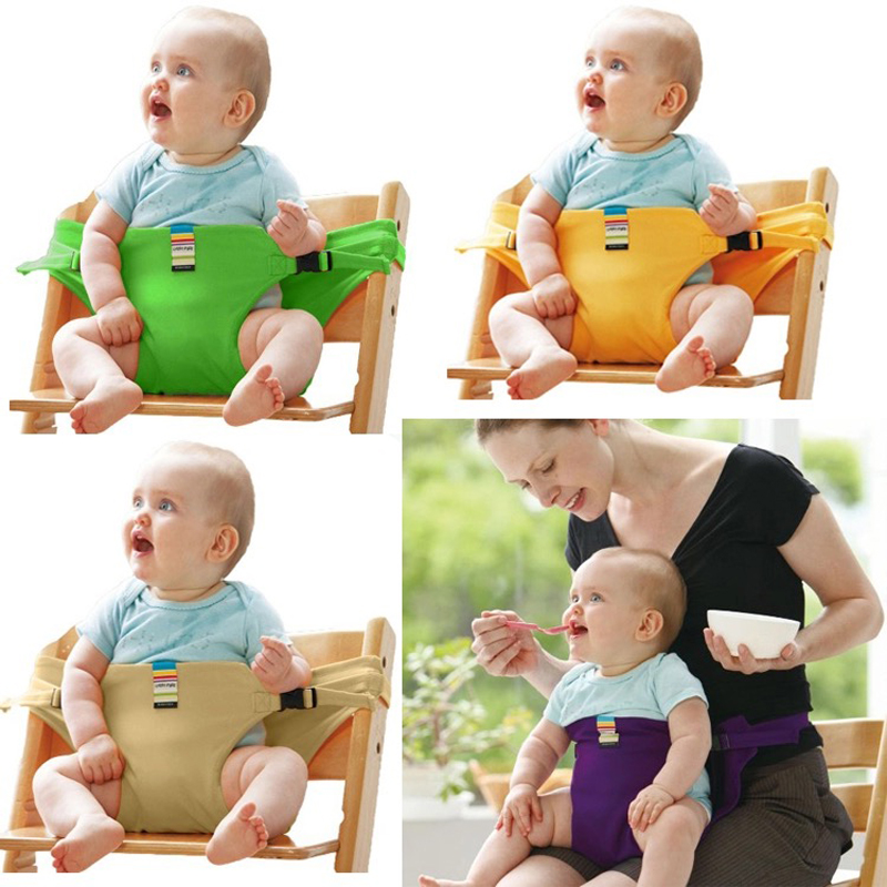 Baby Dining Chair Safety Belt Portable Seat Lunch Chair Seat Travel Foldable Washable Feeding Chair Harness Feeding High Chair