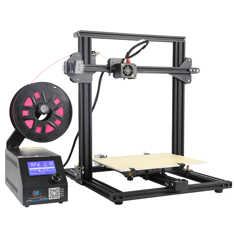 2018 CR-10 Mini 3D printer DIY KIT Easy Assemble Continuation Print of power failure Large size Prusa i3 Printer 3D Creality 3D metal frame linear guide rail for xzy axix high quality precision prusa i3 plus creality 3d cr 10 400 400 3d printer diy kit