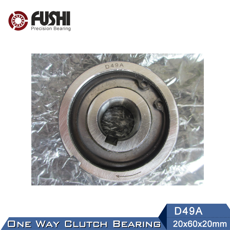 D49A One Way Bearing Clutches 20*60*20mm ( 1 PC) With Keyway FreeWheel Clutch Bearings csk40pp 30 one way bearing clutches 40 80 30mm 1 pc with keyway csk6208pp freewheel clutch bearings csk208pp