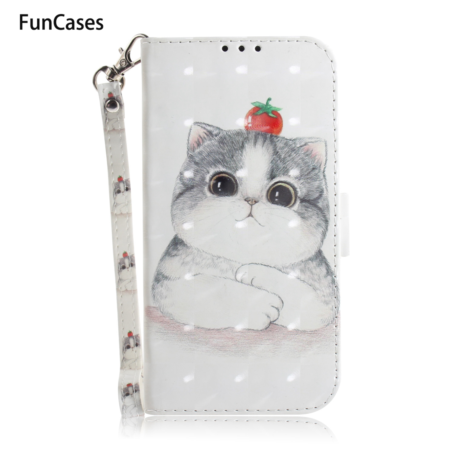 3D Book Phone Case For carcaso Huawei Y6 2018 PU Leather Wallet Case sFor Ajax Huawei cellular Honor 7A Y6 Prime 2018 <font><b>Y5</b></font> Y9 <font><b>2019</b></font> image