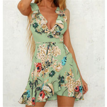 b23ad5cfa55e7 Buy floral frill mini dress and get free shipping on AliExpress.com