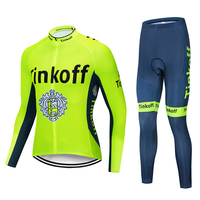 Tinkoff 2019 Pro Team Long Sleeve Cycling Jersey Racing Bike Clothing MTB Bicycle Clothes Wear Ropa Ciclismo Bicycle Cycling