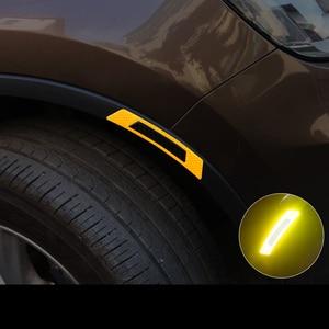 2pcs car carbon fiber reflecto