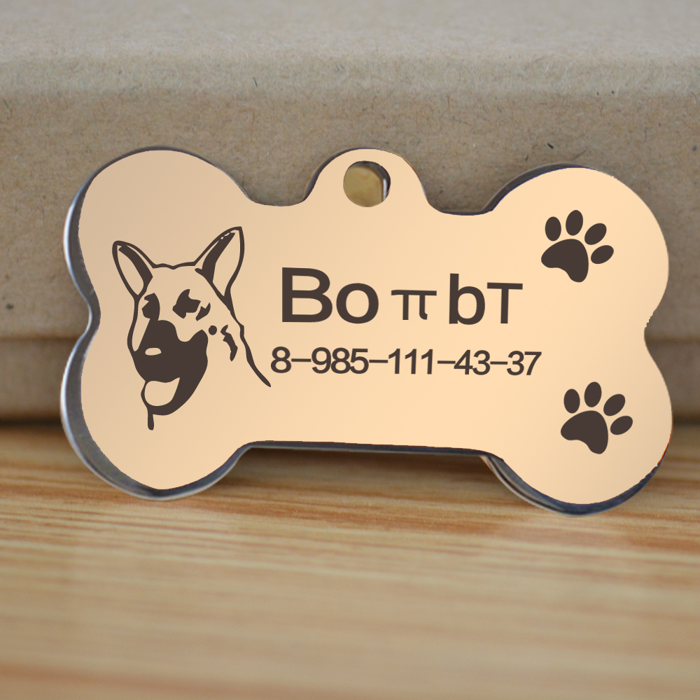 Free engraved write QR name phone number pet dog cat ID tag collar pet tag  dog pet name pendent neckce tag engraved military tag