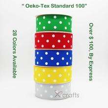 1-1/2 38 MM Grosgrain Printed Dots Ribbon Eco-Friendly Wedding DIY Tape Gift Christmas Red 100 YARDS / ROLL 28 Colors