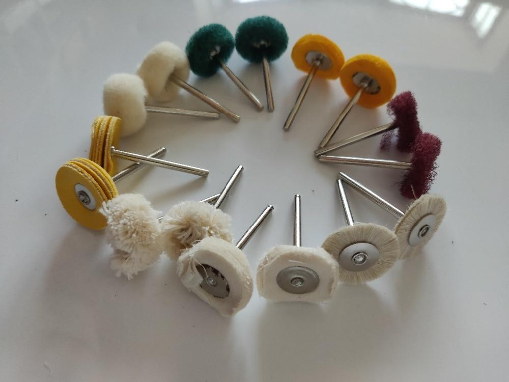 18 Pcs /Lots Polishing Wheel Buffing Pad Brush Jewelry Metal Micro-Electronic Dremel Accessories For Rotary Tools Polishing Pads