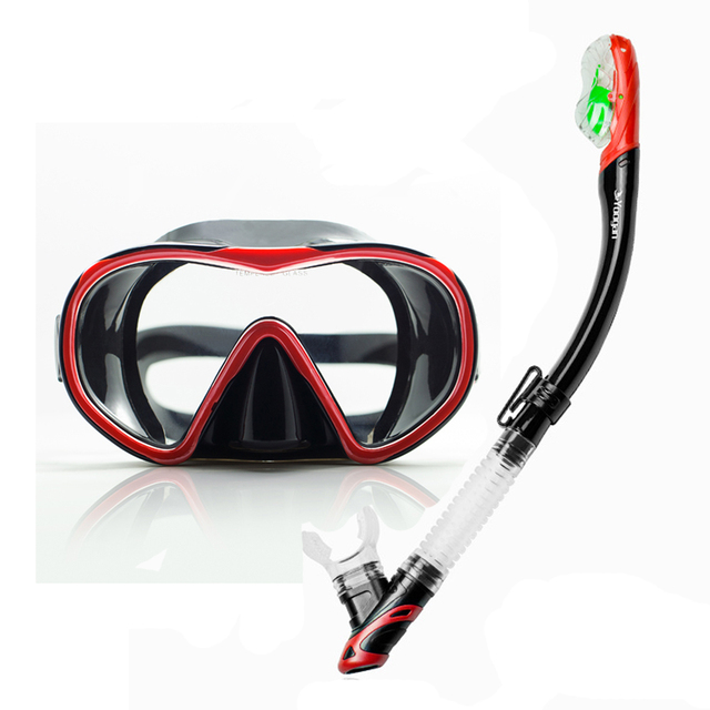 93ba948fc36 Newest Diving and Swimming gears great version dive mask with dry snorkel  summer action sport gears top watersport diving gears