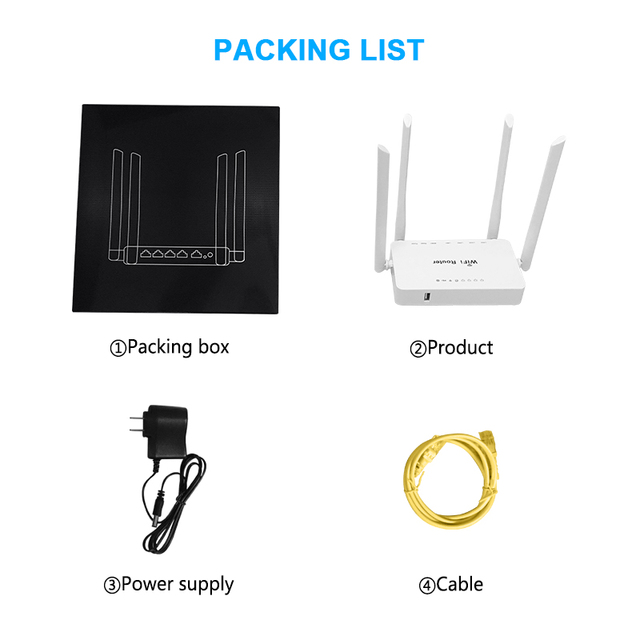 Original WE1626 Wireless WiFi Router For 3G 4G USB Modem With 4 External Antennas 802.11g 300Mbps openWRT/Omni II Access Point 5