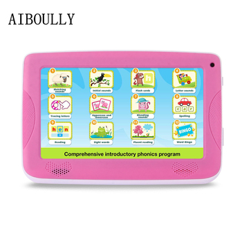 AIBOULLY Original Kids Tablet PC 7 inch Quad Core 1G RAM Android Tablet 6.0 Dual Camera WiFi FM 3000 mAh with Silicone Case 8'' image