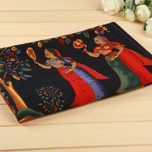 1 piece of active printed fabric for sewing width 57/58 inches linen cotton fabrics ancient Egypt cloth vintage DIY 1816(China)