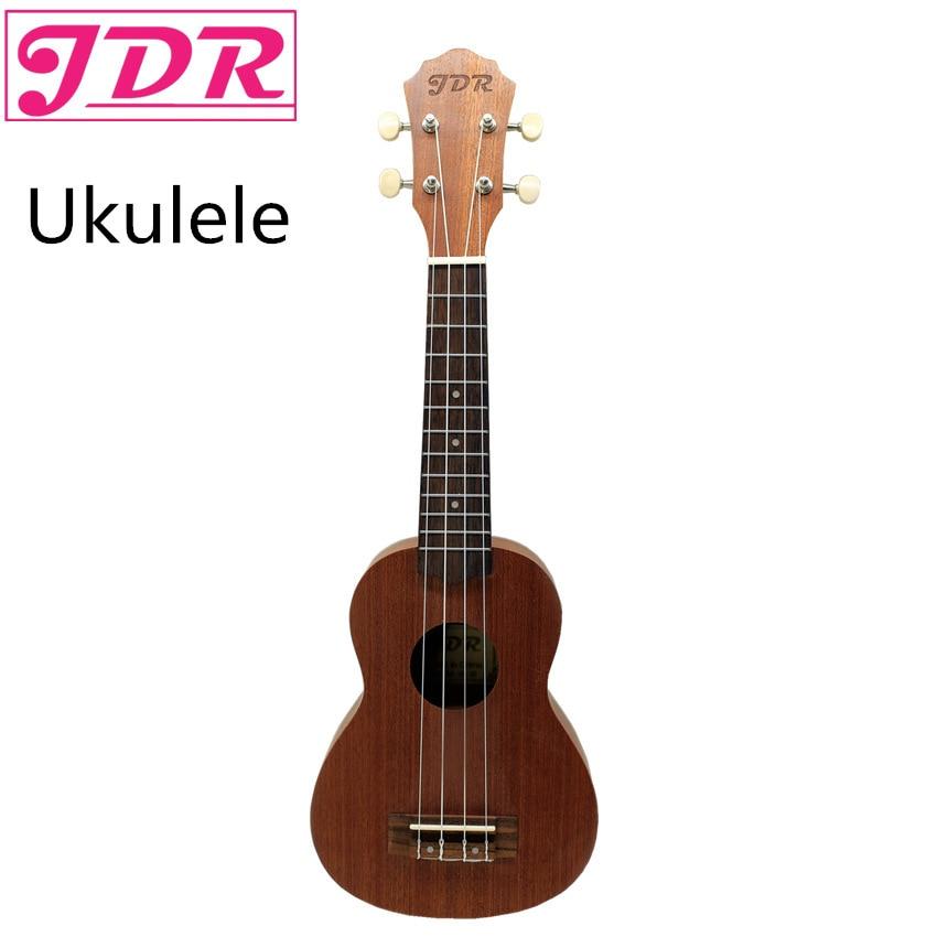 JDR 21 pouces ukulélé guitare palissandre 4 cordes hawaïen Ukelele Banjo Instruments de musique avec sac de transport pour les débutants