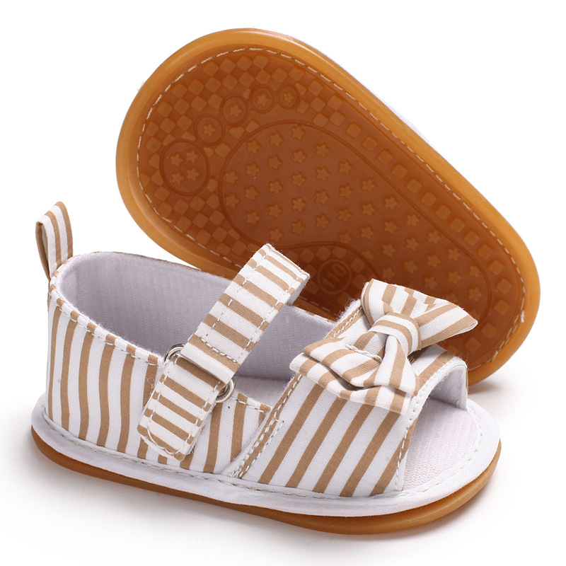 558529d80850 Raise Young Cotton Fabric Summer Baby Girl Sandals Butterfly knot Rubber Soles  Toddler Girl Shoes Newborn Infant Footwear 0 18M-in Sandals   Clogs from ...