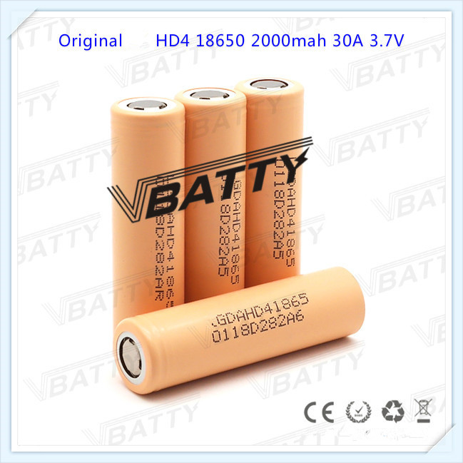 4 Pcs 100% Quality Usa Hottest For Lg Hd4 2000mah 18650 Box Mod Battery,2000mah 30a Cells New Free Shipping Fashionable Patterns