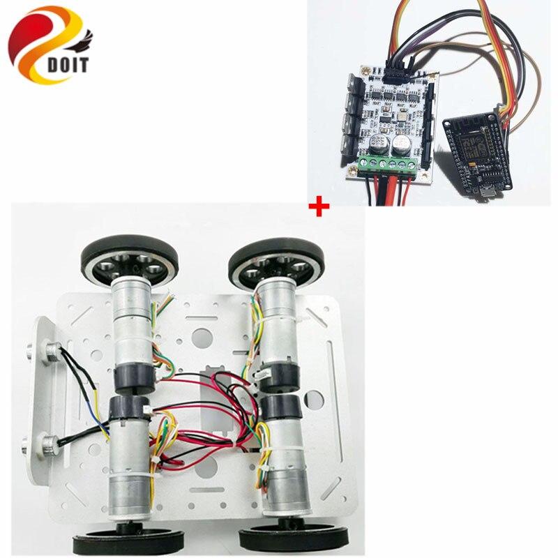 Original DOIT C200 Aluminum Alloy Metal 4wd Robot Wheel Car Chassis Development Kit Remote Control DIY RC Toy Smart Track Model