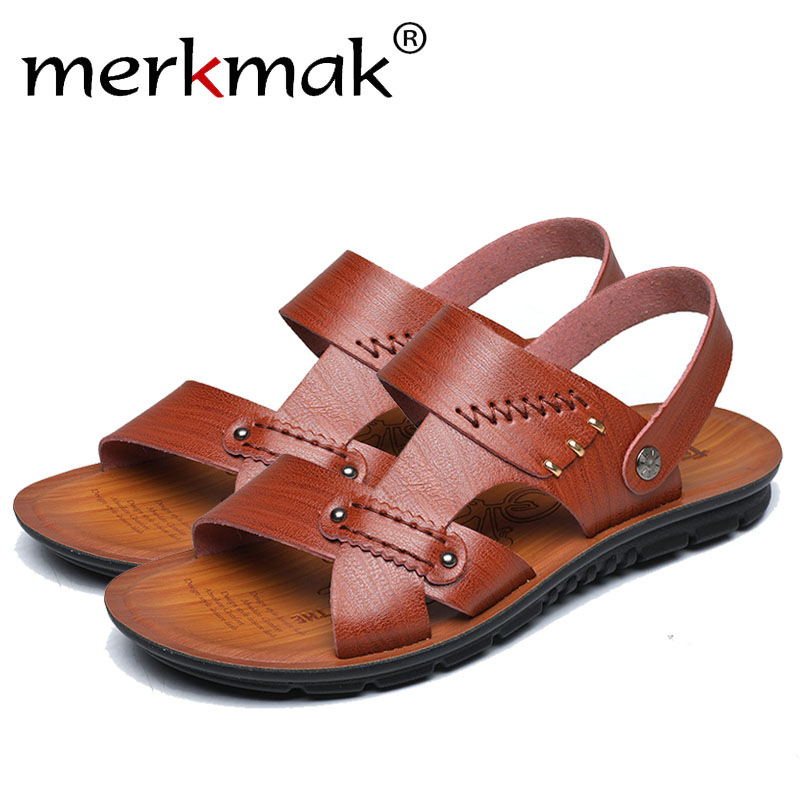 NEW MEN/'S BOYS WOVEN MULE SANDAL BROWN BUCKLED STYLISH COMFORTABLE CASUAL BEACH