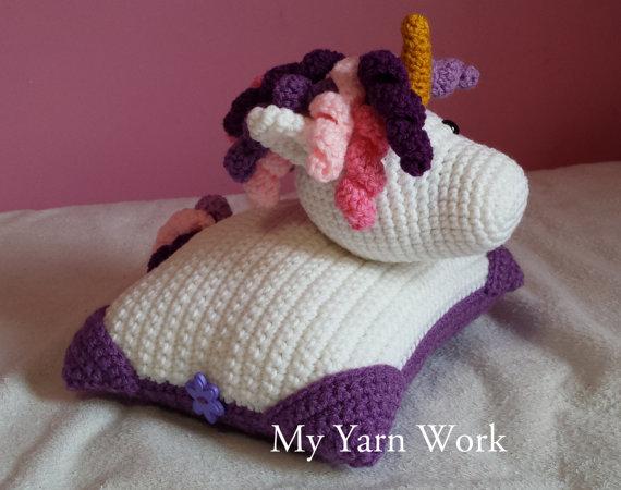 Unicórnio Pal Travesseiro decorar a casa o uso do bebê de crochê