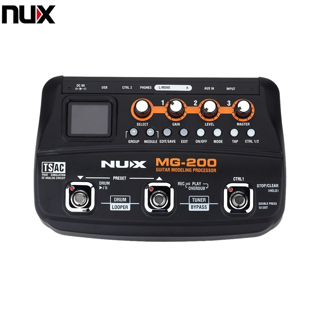 NUX MG 200 Guitar Modeling Processor Guitar Multi effects Processor with 55 Effect Models Top Quality