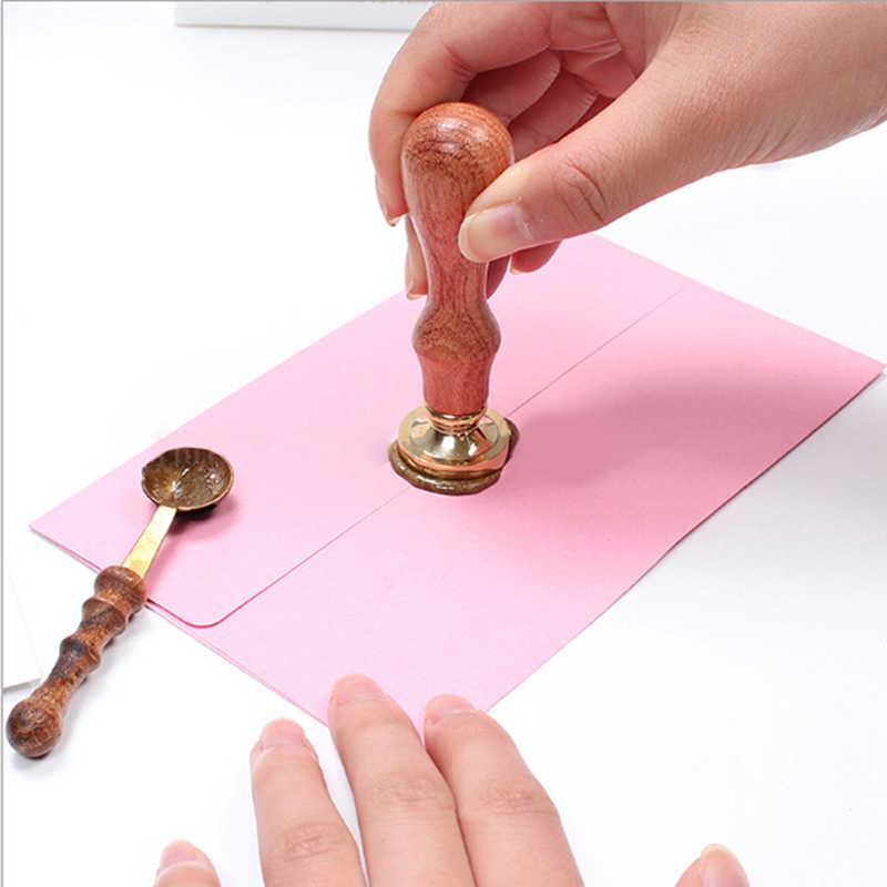 Diy colher de cera de vedação anti-quente para cera derretida dissolver selo envelope carta artesanato lidar com colher de cozinha brinquedos para crianças