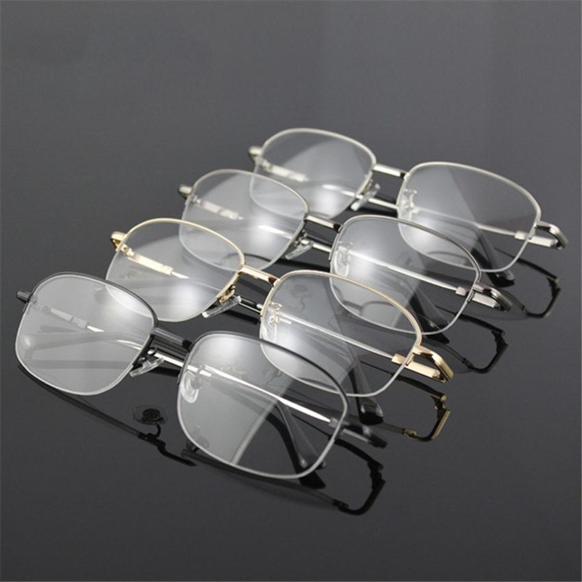 New Arrival Memory Titanium Glasses Half Frame Optical Eyeglasses Frame Men Retro Half-frame Glasses Prescription Optical Frames