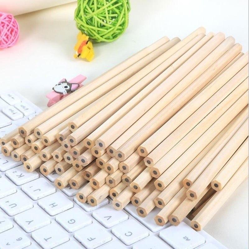10PCs/lot Eco-friendly Natural Wood Pencil HB Black Hexagonal Non-toxic Standard Pencil Cute Stationery Office School Supplies