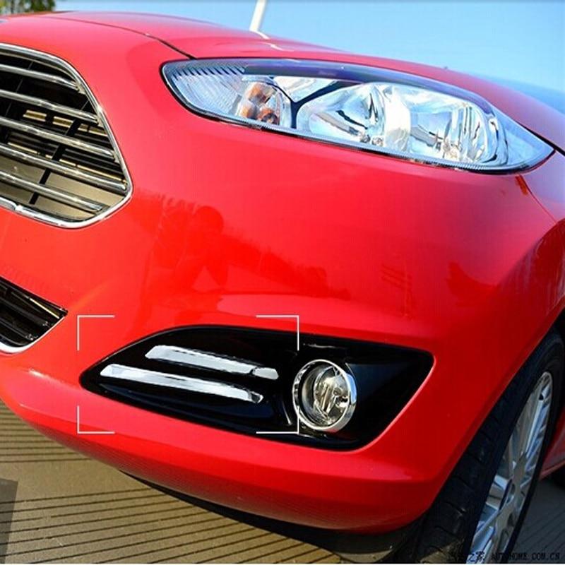 2X 9LED Fog Lamp Daytime Driving Running Light DRL Fit Ford Fiesta MK6 MK7 C-Max