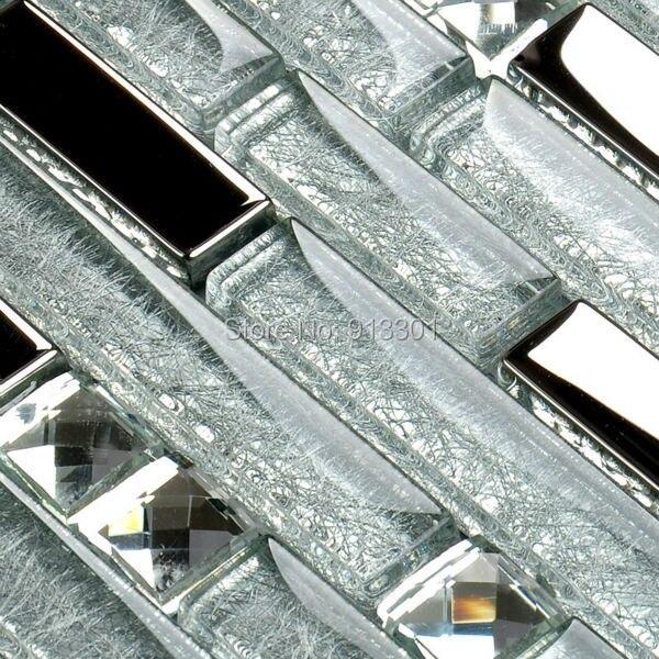 Silver Plated Glass Mosaic Tile Backsplash Ideas Bathroom Shower Crystal  Glass Diamond Wall Tiles Cheap Mirror