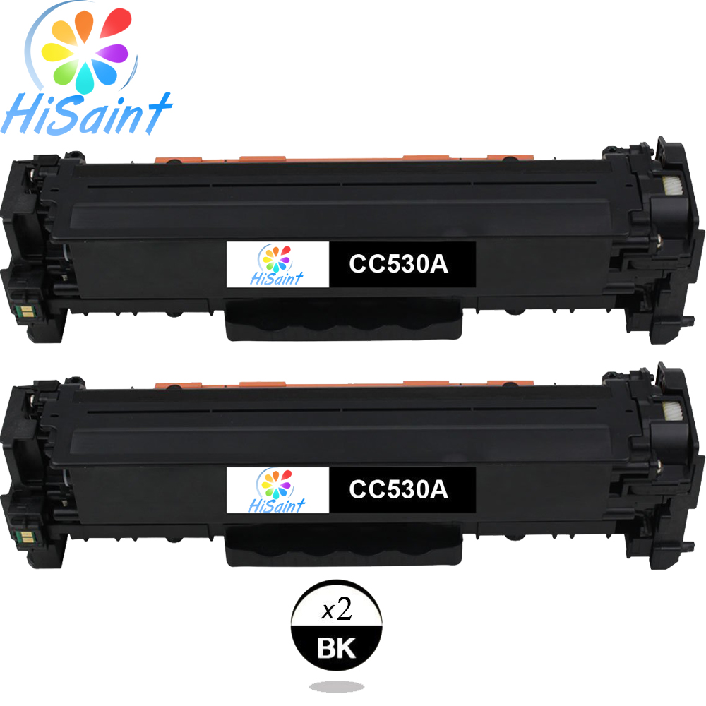 Hisaint Listing Hot Sale Compatible Toner Cartridge Replacement For HP CC530A 304A (Black, 2-Pack) Special counter Free shipping black q7551a toner cartridge compatible q7551a cartridge toner for hp free shipping