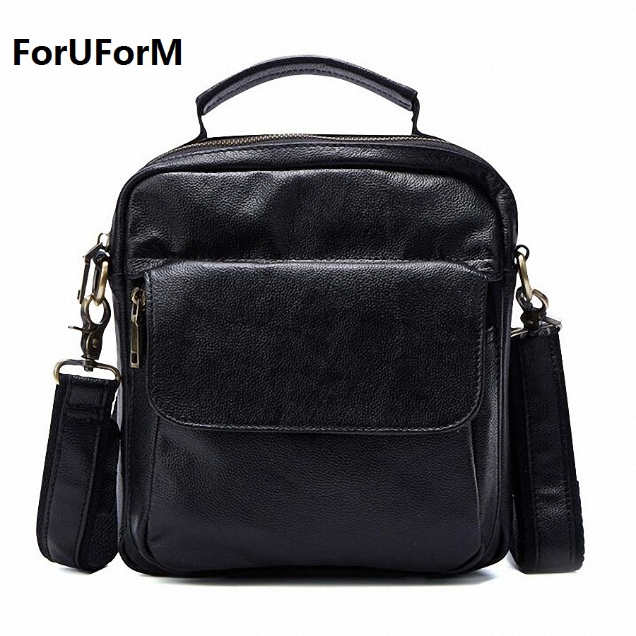 Genuine Leather Men Bags Hot Sale Male Small Messenger Bag Man Fashion Crossbody Shoulder Bag Men's Travel New Bags LI-1850 hot 2017 genuine leather bags men high quality messenger bags male small travel brown crossbody shoulder bag for men li 1996
