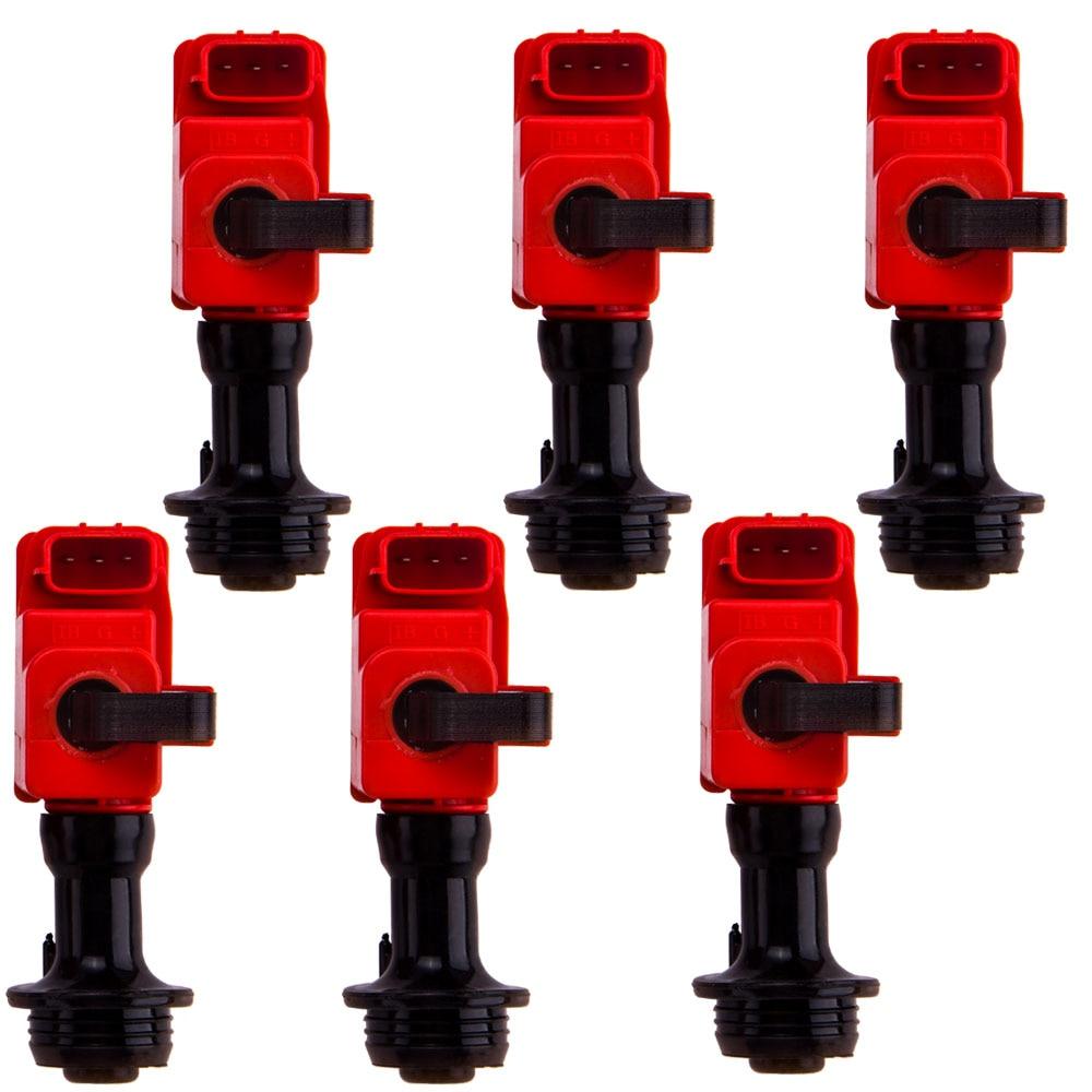 Genuine 6 PCS Ignition Coil Pack For Nissan Skyline R34 GTT ER34 ENR34 RB25 NEO