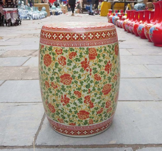Stool For Dressing Table Stool Chinese Porcelain Garden Stool Ceramic  Jingdezhen Ceramic Outdoor Ceramic Garden Stool
