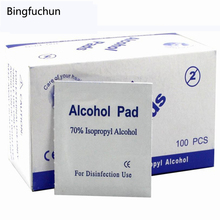Nail Art Portable 100pcs/Box Alcohol Swabs Pads Wipes Antiseptic Cleanser Cleaning Sterilization First Aid Home Makeup New free shipping 200pcs 2boxes antiphlogosis alcohol cotton swab pads wipe skin cleaning care sterilization first aid disinfection